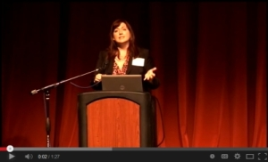 Sample of Michelle Lowther presenting. Click through to play. 01:32.